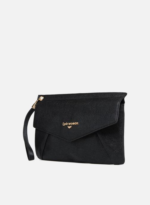 Handtaschen Les P'tites Bombes Pochette schwarz schuhe getragen
