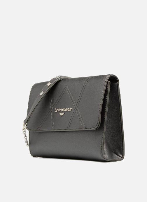 Handbags Les P'tites Bombes Pochette chaine Grey model view
