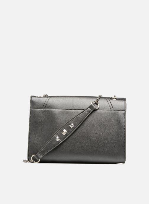Handbags Les P'tites Bombes Pochette chaine Grey front view
