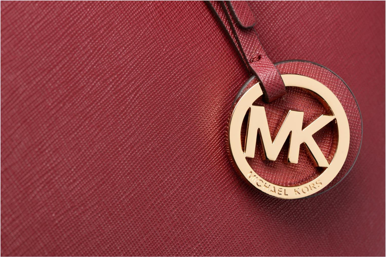 Bolsos de mano Michael Michael Kors JET SET MD TZ MULTIFUNCTION TOTE Vino vista lateral izquierda