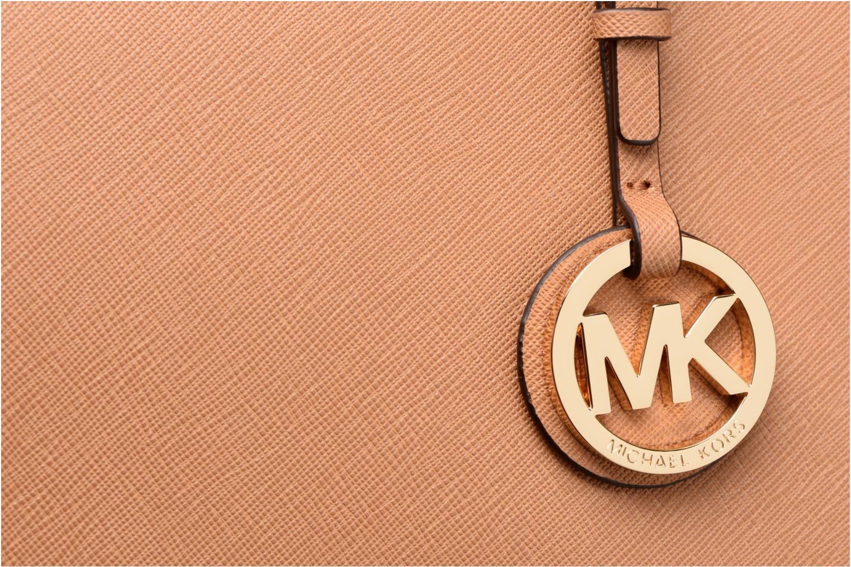 Bolsos de mano Michael Michael Kors JET SET TZ TOTE Marrón vista lateral izquierda