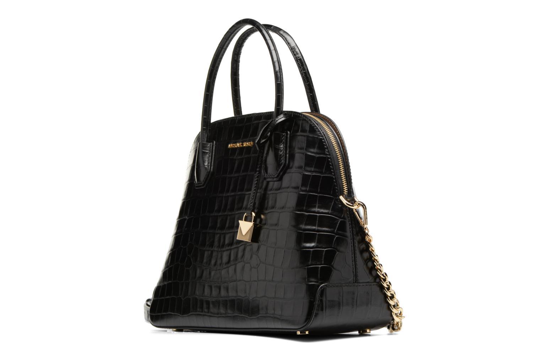 Bolsos de mano Michael Michael Kors MERCER LG DOME SATCHEL Negro vista del modelo