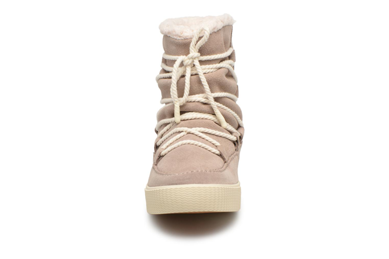 Bottes TOMS Alpine Gris vue portées chaussures