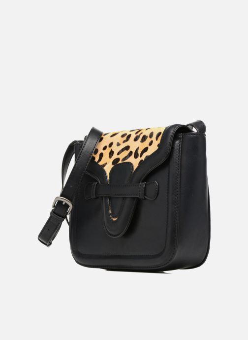 Bolsos de mano Pepe jeans TATY Crossbody Suede leather bag Negro vista del modelo