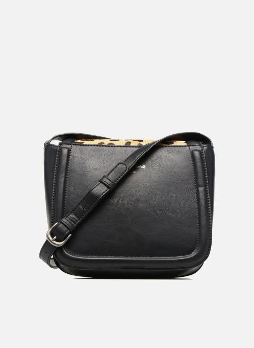 Handtassen Pepe jeans TATY Crossbody Suede leather bag Zwart voorkant
