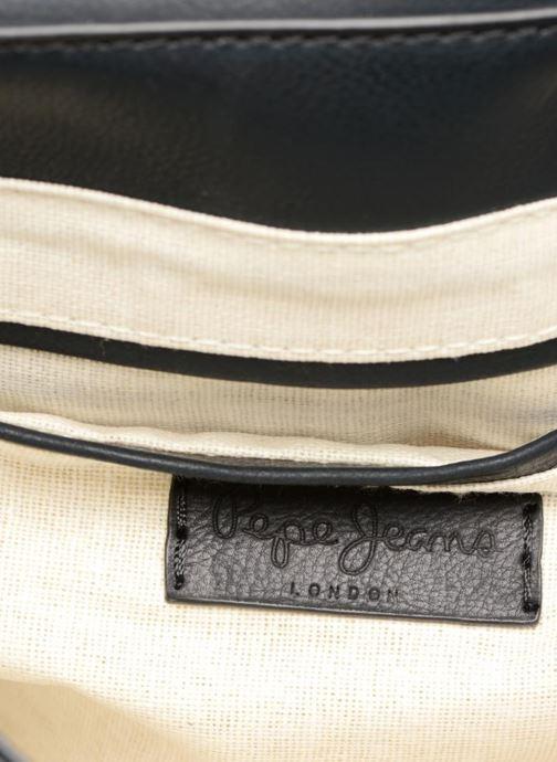 Bolsos de mano Pepe jeans TATY Crossbody Suede leather bag Negro vistra trasera