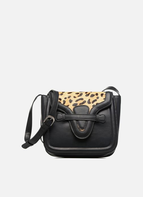 Bolsos de mano Pepe jeans TATY Crossbody Suede leather bag Negro vista de detalle / par