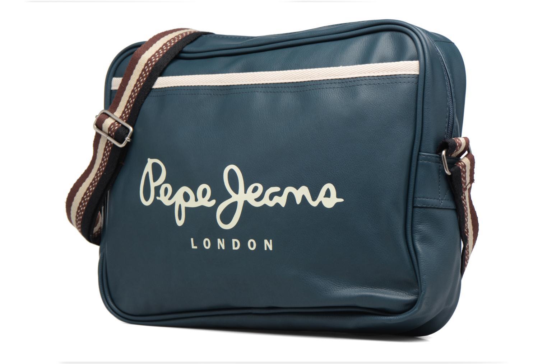 Borse uomo Pepe jeans IVY Bag Azzurro modello indossato