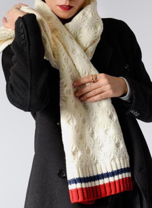 Echarpes et Foulards Pepe jeans ODDA Scarf 200x30 Blanc vue haut
