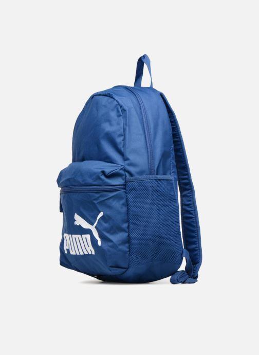 Mochilas Puma Phase Backpack Azul vista del modelo