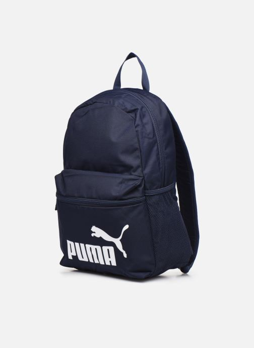Mochilas Puma Phase Backpack Azul vista del modelo