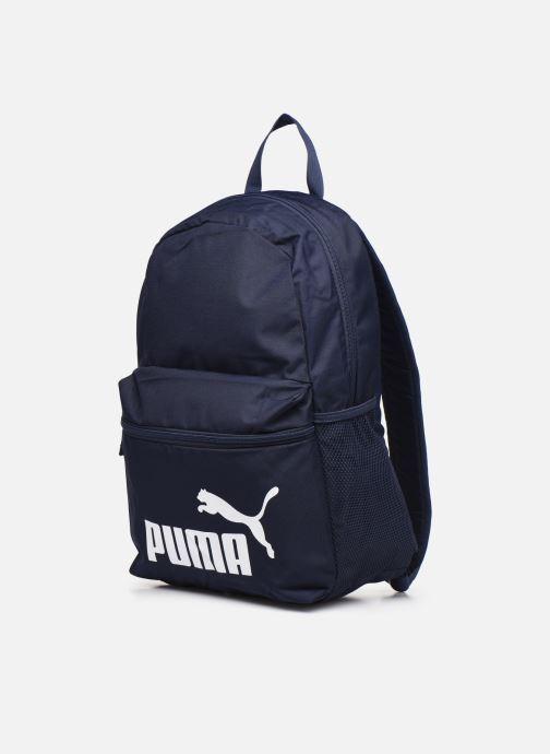 Zaini Puma Phase Backpack Azzurro modello indossato