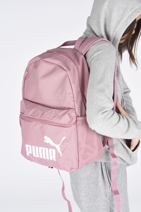 Sacs à dos Puma Phase Backpack Rose vue bas / vue portée sac