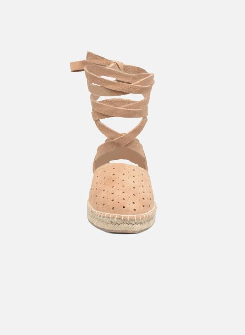 Espadrilles Steve Madden Pliee Beige vue portées chaussures