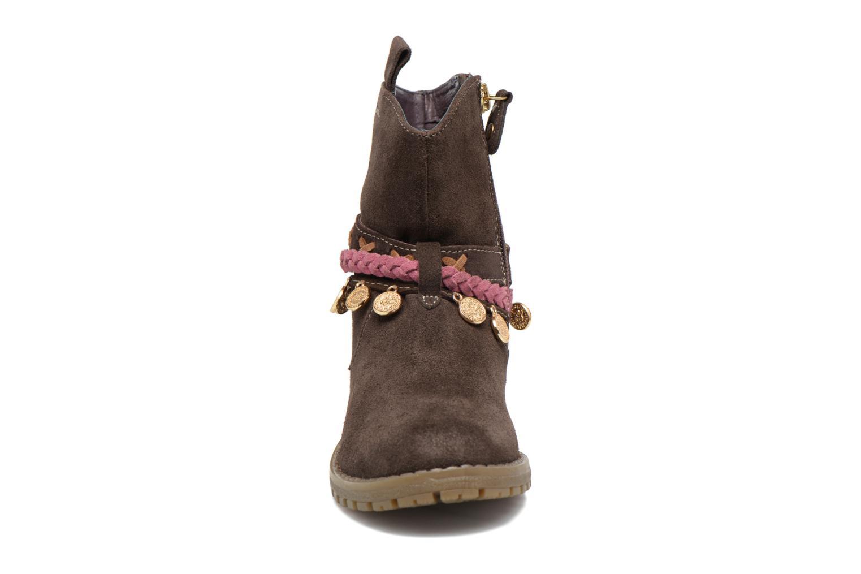 Bottes Gioseppo Mohicana Marron vue portées chaussures