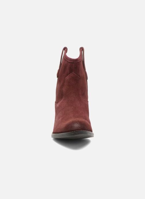 Bottines et boots Gioseppo Bastrop Bordeaux vue portées chaussures