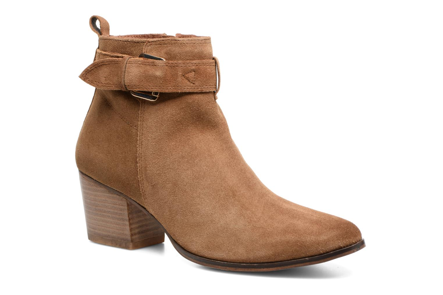 Ankle boots Gioseppo Dothan Brown detailed view/ Pair view