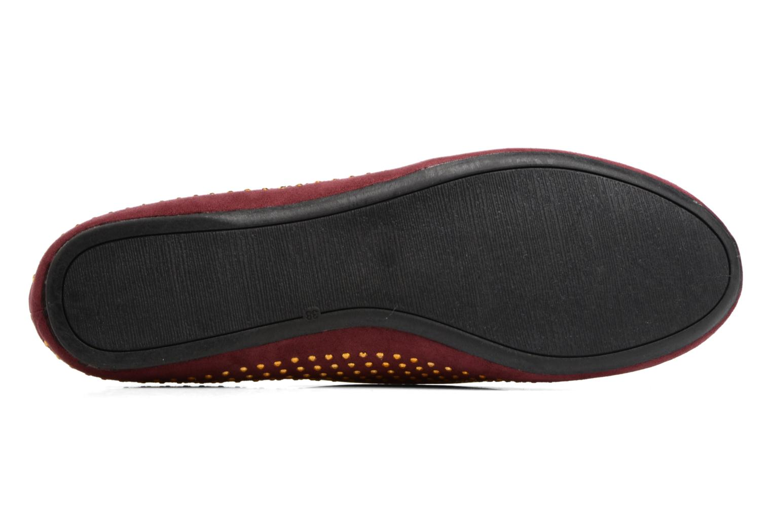 Loafers Gioseppo Gladys Burgundy view from above