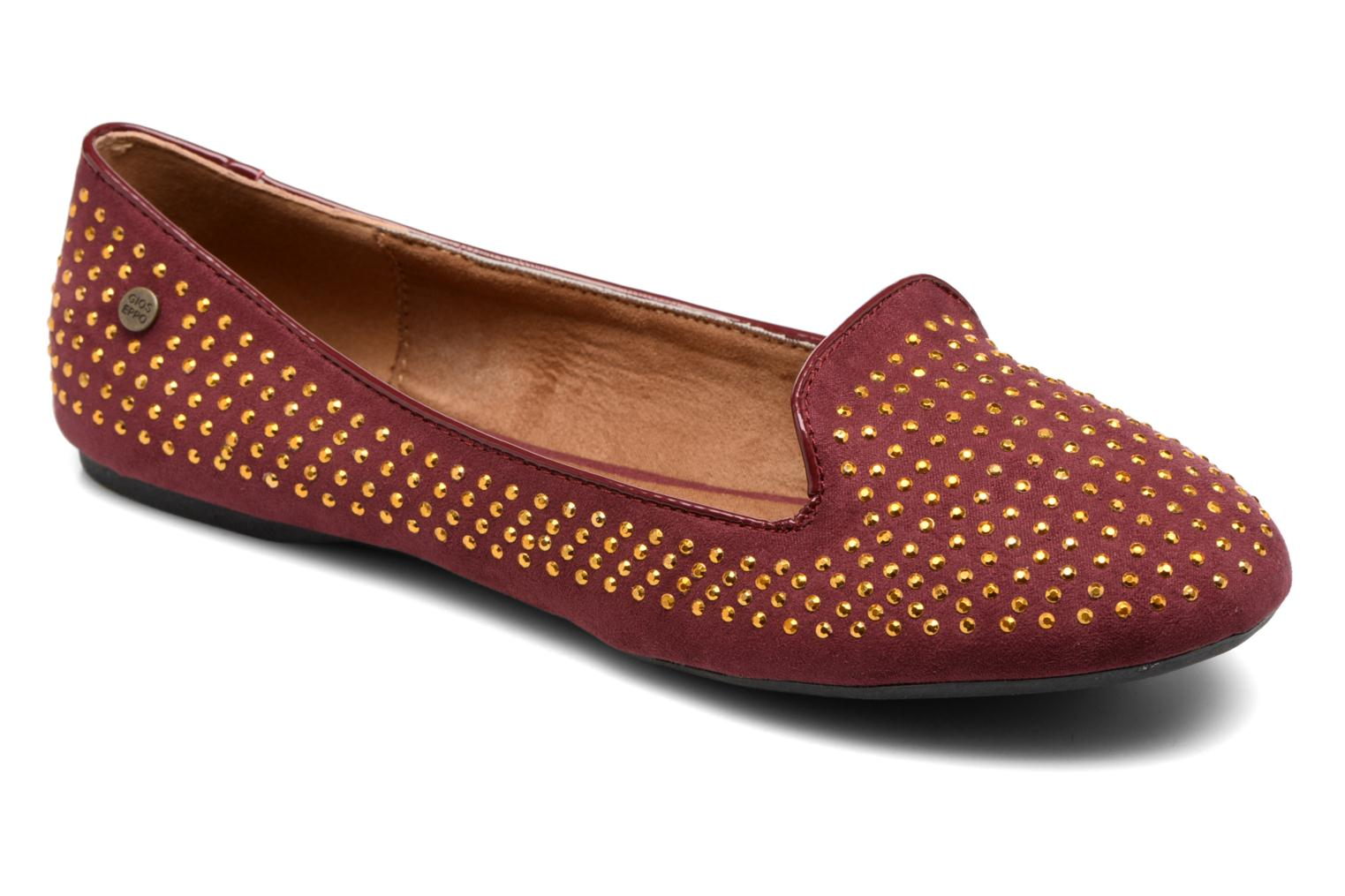 Loafers Gioseppo Gladys Burgundy detailed view/ Pair view