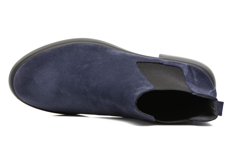 Botines  Gioseppo Padme Azul vista lateral izquierda