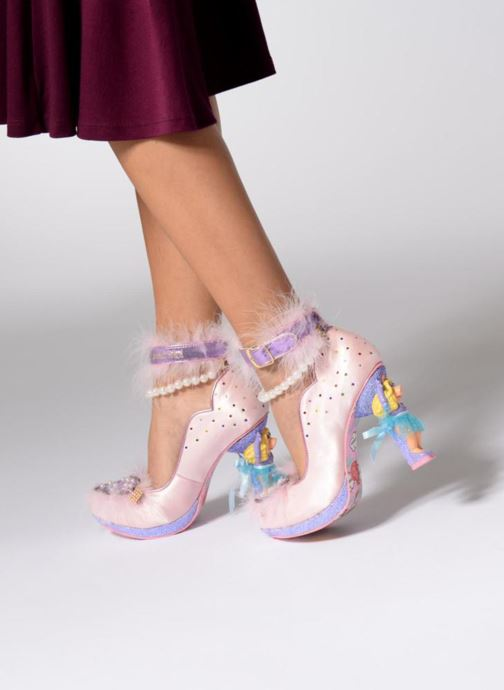 High heels Irregular choice All About Moi Pink view from underneath / model view