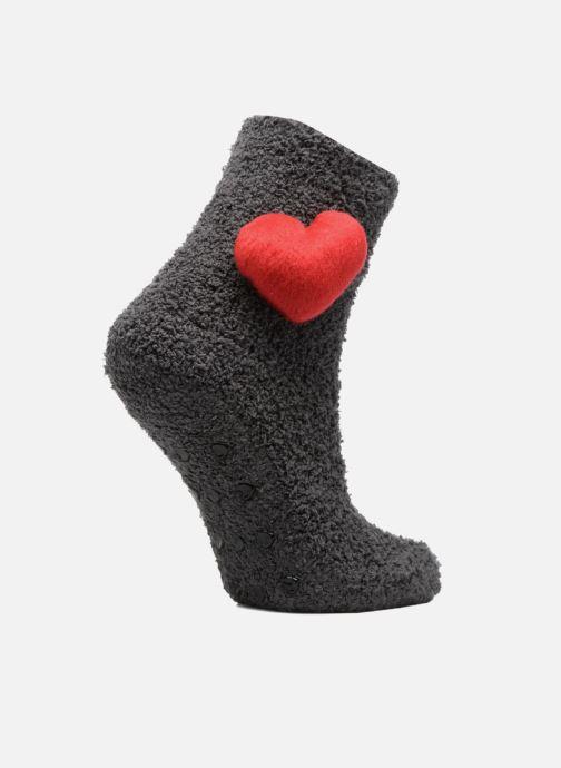 Sokken en panty's Sarenza Wear Chaussons Chaussette Femme Antidérapantes Cœur Grijs detail