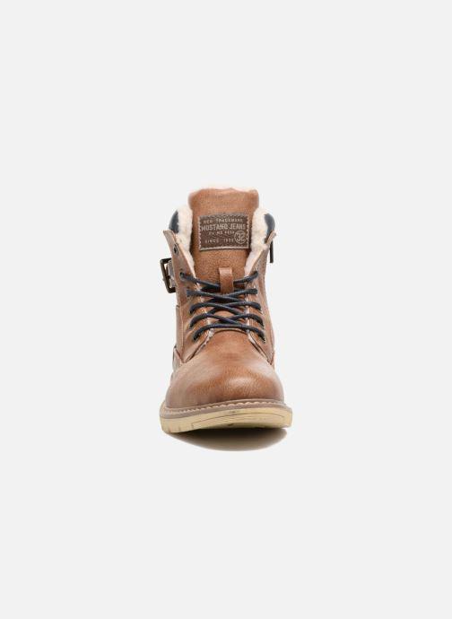 Bottines et boots Mustang shoes Didi Marron vue portées chaussures