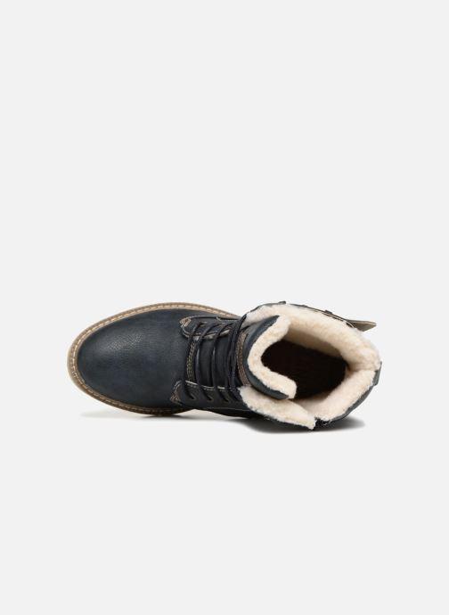 Boots en enkellaarsjes Mustang shoes Didi Blauw links