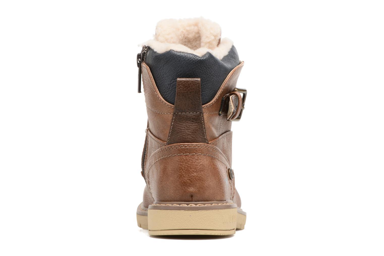 Bottines et boots Mustang shoes Didi Marron vue droite