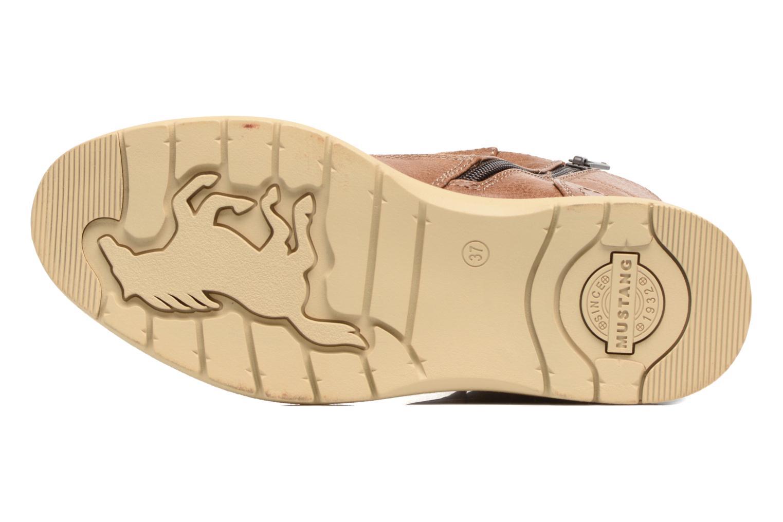 Bottines et boots Mustang shoes Didi Marron vue haut