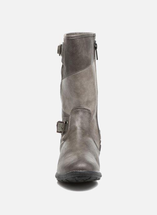 Bottes Mustang shoes Liesa Gris vue portées chaussures