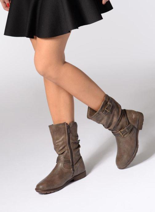 Bottes Mustang shoes Susi Marron vue bas / vue portée sac