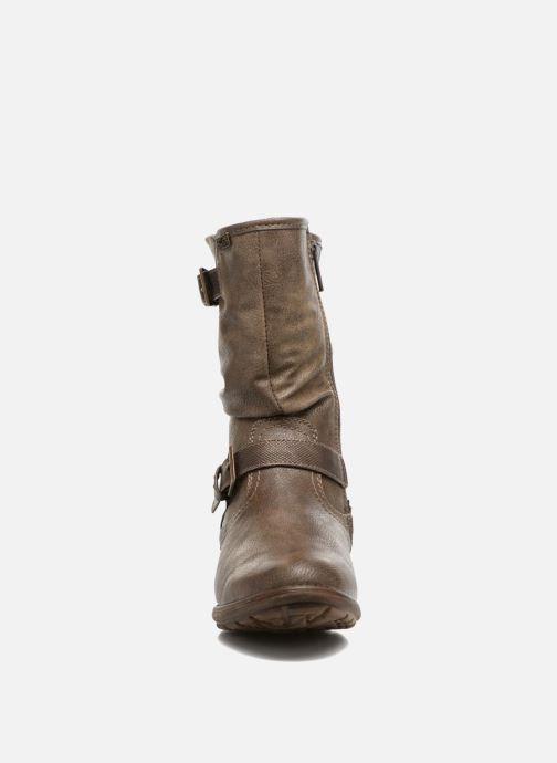 Bottes Mustang shoes Susi Marron vue portées chaussures