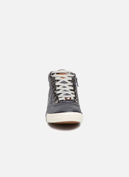 Baskets Mustang shoes Benno Bleu vue portées chaussures