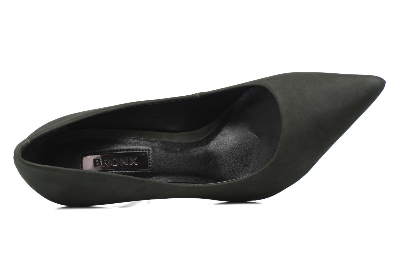 Zapatos de tacón Bronx Briox A Verde vista lateral izquierda