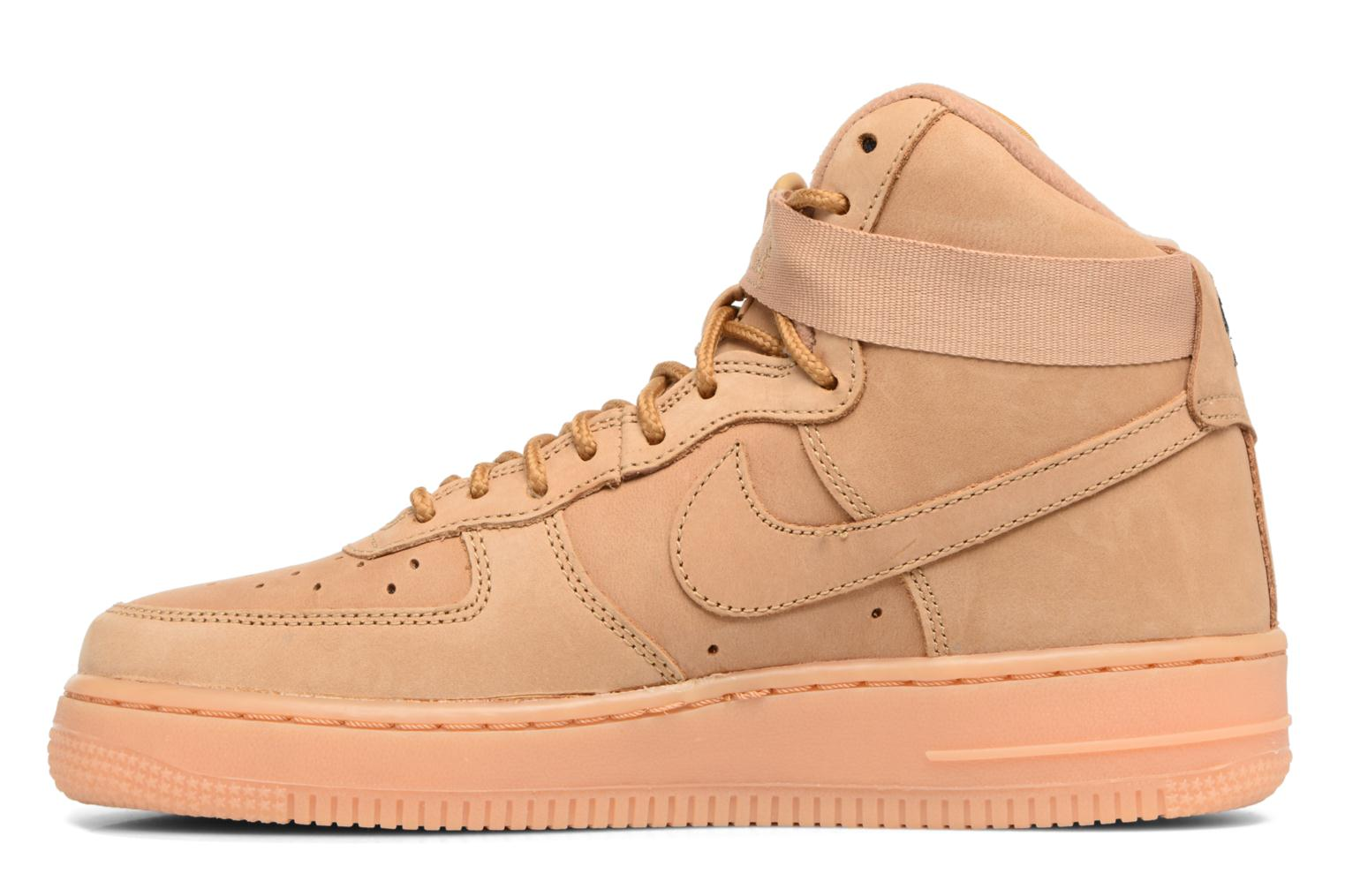 Sneakers Nike Air Force 1 High Wb (Gs) Marrone immagine frontale