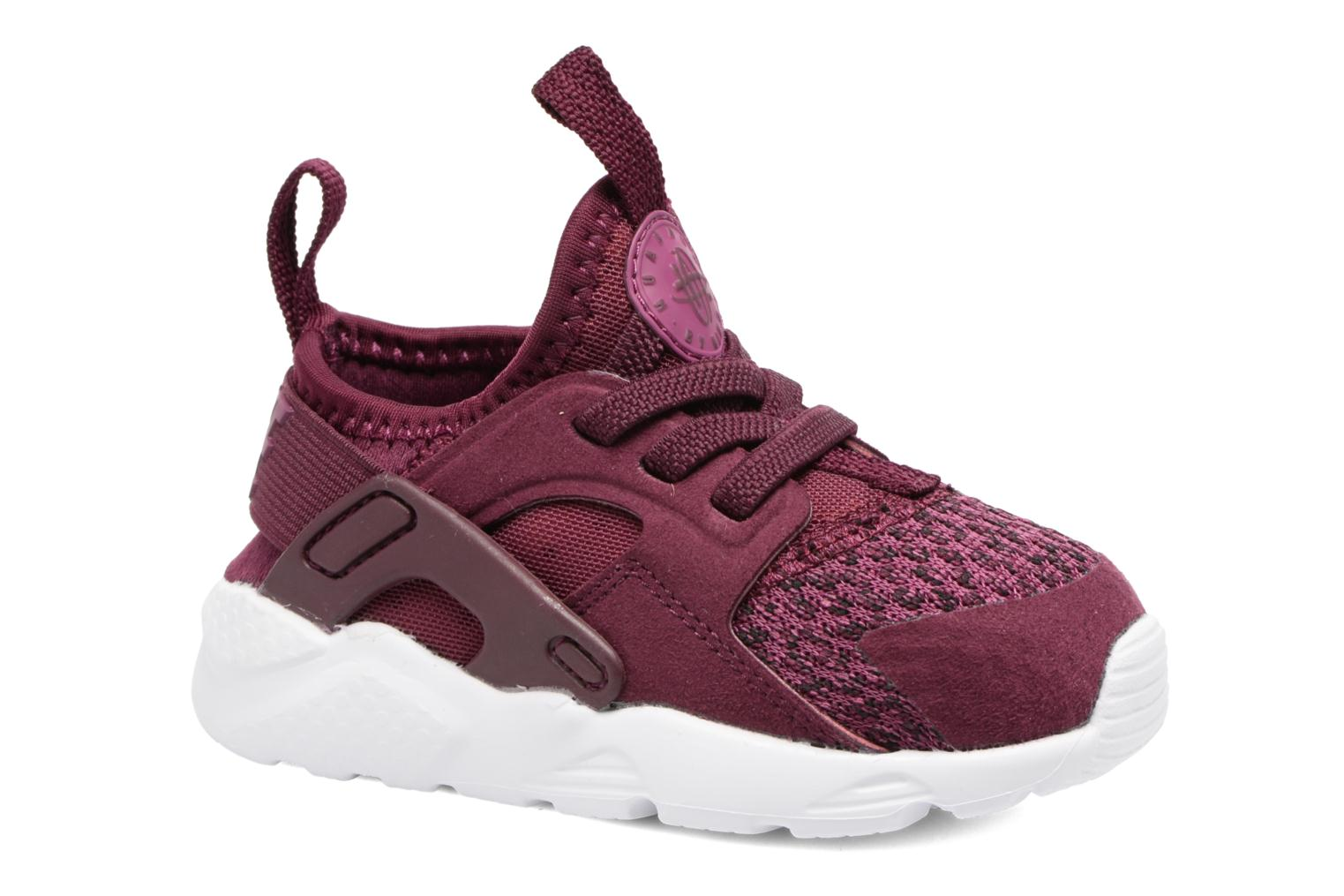 Baskets Nike Huarache Run Ultra Se (Td) Bordeaux vue détail/paire
