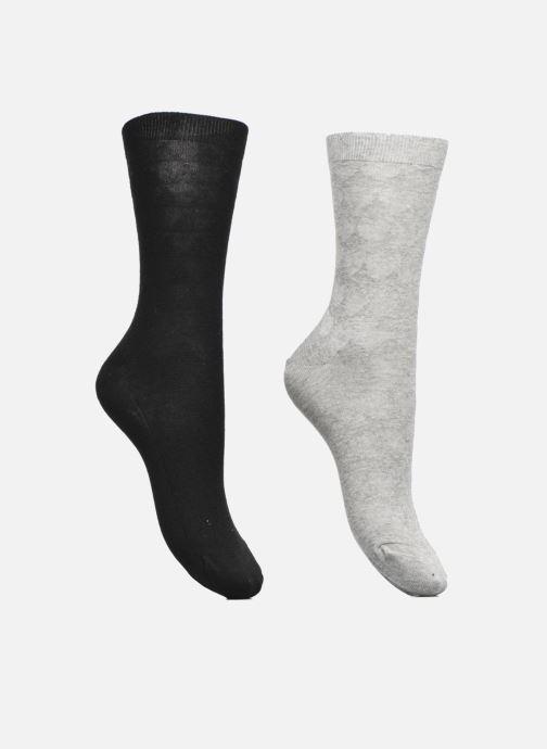 Sokken en panty's Dim Chaussettes jeux de mailles Lot de 2 Grijs detail
