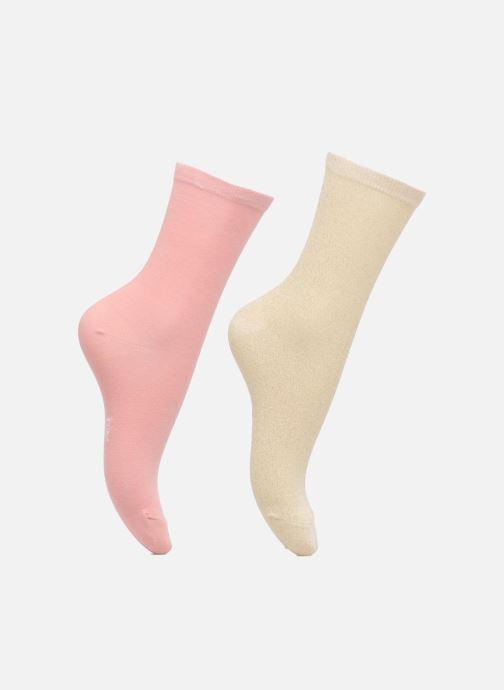 Sokken en panty's Dim Chaussettes effet brillant Lot de 2 Roze detail