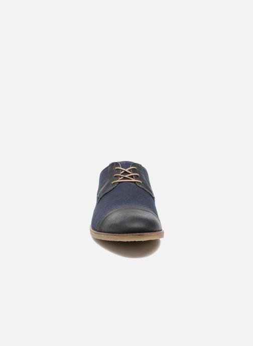 Schnürschuhe Kickers Flamas blau schuhe getragen