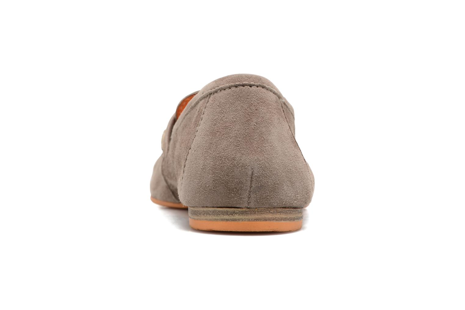 Mocasines Tamaris Slippa Beige vista lateral derecha