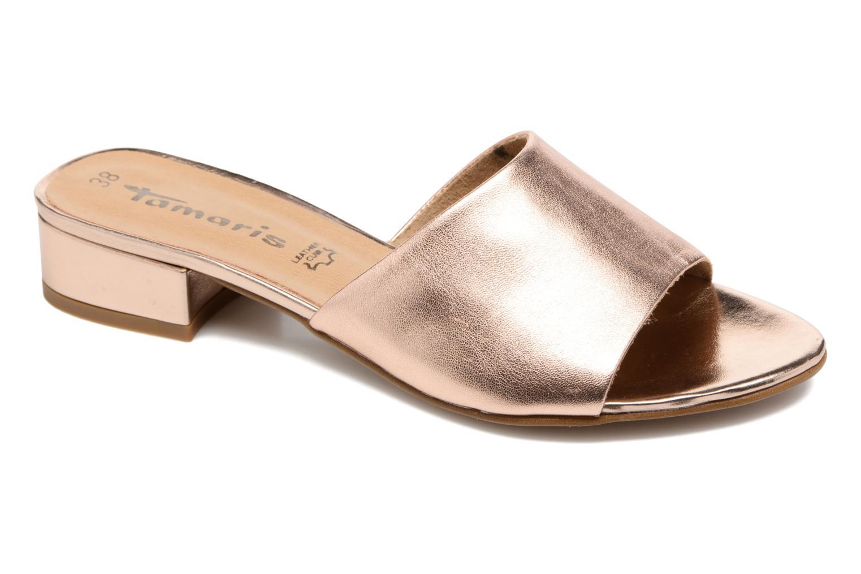 Mules & clogs Tamaris Panta Bronze and Gold detailed view/ Pair view