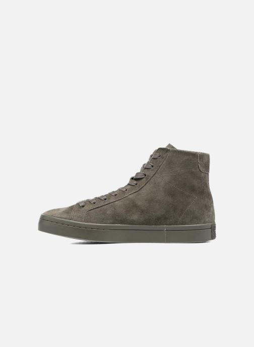 Baskets adidas originals Courtvantage Mid Gris vue face