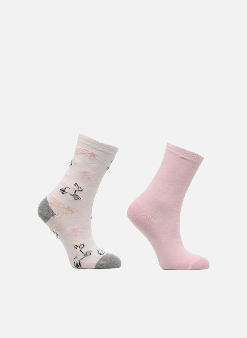 Socken & Strumpfhosen Sarenza Wear Chaussettes Fille Licorne Pack de 2 coton rosa detaillierte ansicht/modell