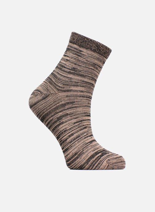 Chaussettes et collants Sarenza Wear Chaussettes lurex Femme Or et bronze vue détail/paire