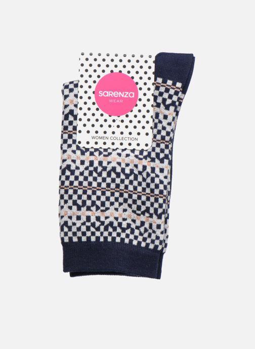 Calze e collant Sarenza Wear Chaussettes Femme Graphique Lurex Azzurro immagine posteriore