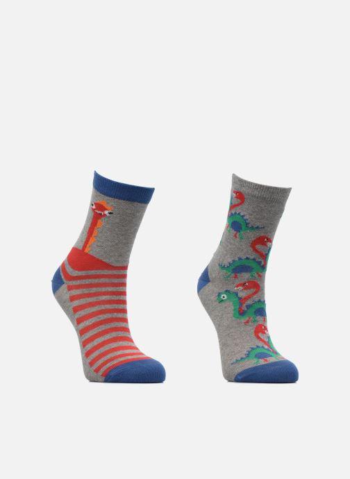 Socken & Strumpfhosen Sarenza Wear Chaussettes dino monstre Pack de 2 enfant coton grau ansicht von hinten