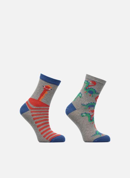 Socken & Strumpfhosen Sarenza Wear Chaussettes dino monstre Pack de 2 enfant coton grau detaillierte ansicht/modell
