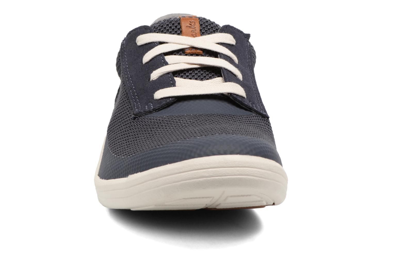 Baskets Clarks Mapped Edge Bleu vue portées chaussures