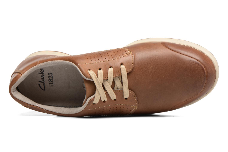 Chaussures à lacets Clarks Stafford Plan Marron vue gauche